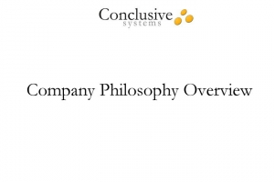 Video clip about company philosophy overview