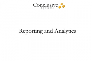 Video clip about reporting and analytics